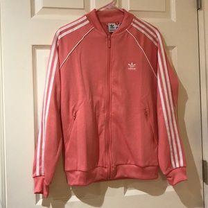 Adidas coral track jacket